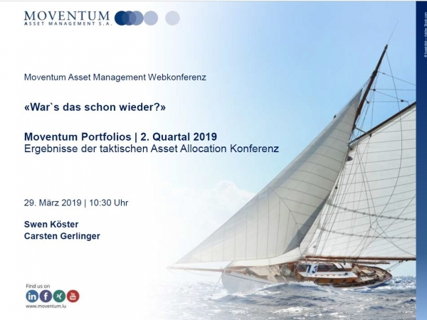 Marktreport zum 2.Quartal 2019 am 03.04.2019